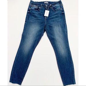 Denim - Good American high waist jeans plus 14 raw hem NWT